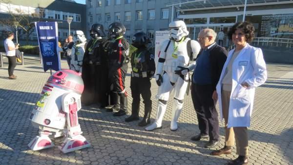 Personajes de Star Wars en el Hospital Donostia