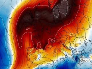 Anticilón sobre Europa en Febrero