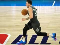 Luka Doncic, en el partido de las futuras estrellas de la NBA.