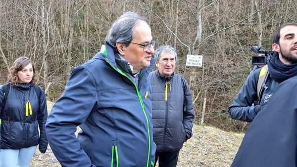 El presidente de la Generalitat, Quim Torra, visita Molló (Girona)