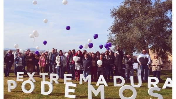 Presentación de los candidatos municipales de Podemos Extremadura