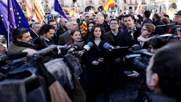 La líder de Cs en Catalunya, Inés Arrimadas, en Amer