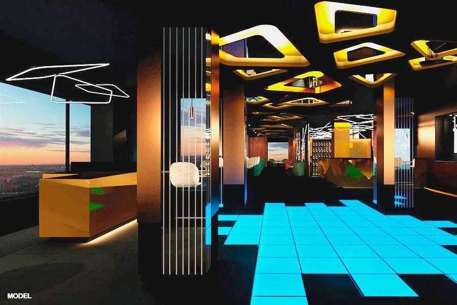 'Sky bar' del hotel Riu Plaza España