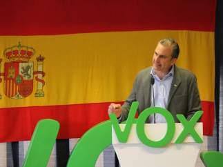 El secretario general de Vox, Javier Ortega Smith, durante un acto en Cuenca.