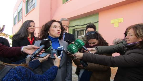 Rocio Ruiz atiende a los medios en una imagen de archivo