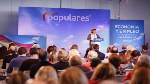 Acto de clausura de la Convención de Economía y Empleo del PP en Zaragoza (Aragó