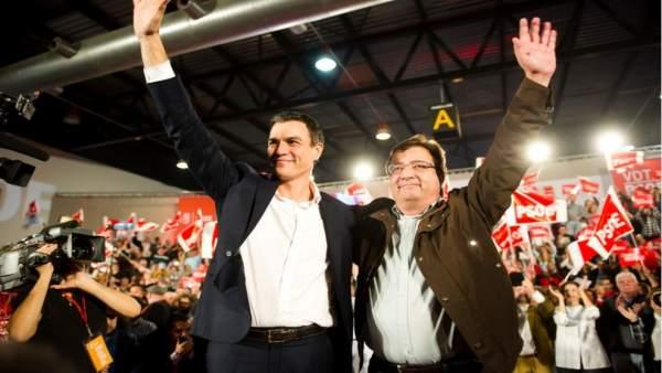 Pedro Sánchez y Guillermo Fernández Vara, en una foto de archivo