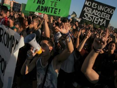 Estudiantes de la URJC es una huelga anterior