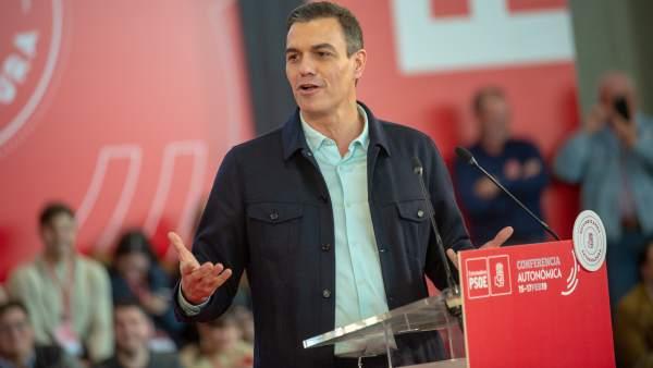 Presidente del Gobierno, Pedro Sánchez, en Mérida