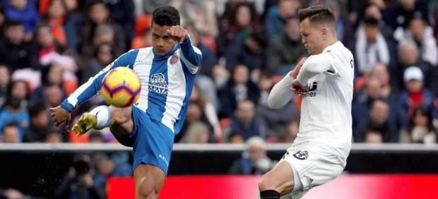 El Espanyol aguanta ante un Valencia huérfano de Rodrigo