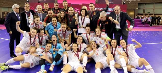 España, campeona de Europa de fútbol sala femenino tras golear a Portugal