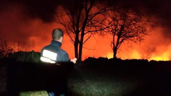 Cantabria lucha contra 32 incendios forestales