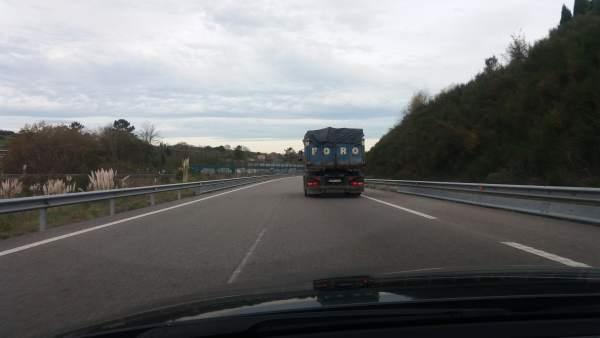 Camión en Asturias, carreteras asturianas, DGT, tráfico