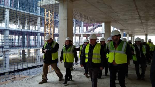 Ventura, en la visita a las obras del futuro Hospital de Alcañiz