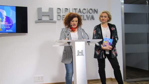 La Vicepresidenta De La Diputación, María Eugenia Limón, Y La Autora De La Guía