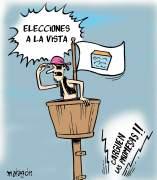 'Elecciones a la vista', viñeta de Malagón.
