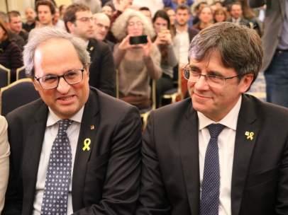 Torra y Puigdemont en Bruselas.