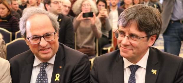 Torra asegura ante Puigdemont que está dispuesto a ir a la cárcel por defender la ...