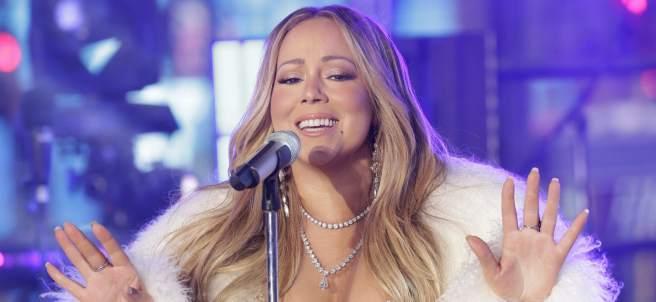 Mariah Carey cantando en Nueva York