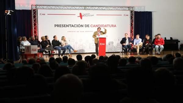 Presidente de la Junta, Guillermo Fernández Vara en un acto público