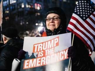 Manifestantes contra Trump