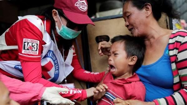 Vacunación contra el sarampión en Filipinas