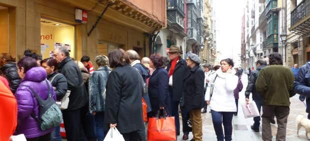 Mercado de gangas Casco Viejo 50 aniversario asociación de comerciantes.