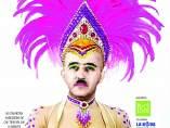Cartel del Carnaval de Nou Barris (Barcelona) que usa la imagen de Franco vestido de vedete.