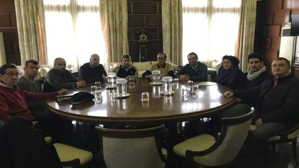 Cubero se ha reunido hoy con los trabajadores del CTRUZ