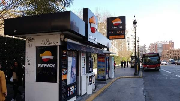 Gasolinera de la calle Xàtiva
