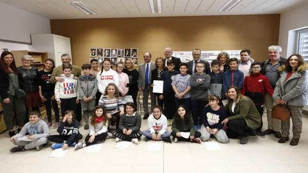 Visita de Javier Lambán al CEIP de Sobradiel