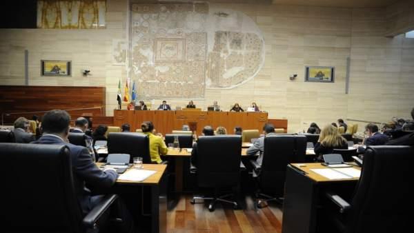 Pleno en la Asamblea de Extremadura- ARCHIVO