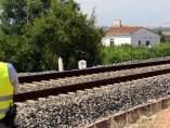 Una foto de archivo en una vía del tren