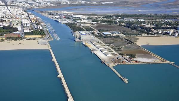 Dársena de la desembocadura del Guadalete en El Puerto de Santa María