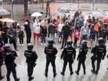 La Policía Nacional en una actuación durante el referéndum del 1-O.