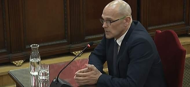Raúl Romeva declara en el Tribunal Supremo durante el juicio al 'procés'