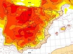 mapas temperaturas finales de febrero