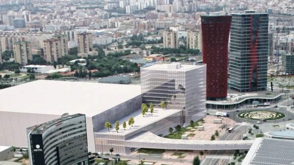 Imagen virtual de cómo será el nuevo pabellón del recinto de Gran Vía.