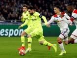 Messi ante el Lyon