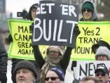 Protesta en Alberta, Canadá