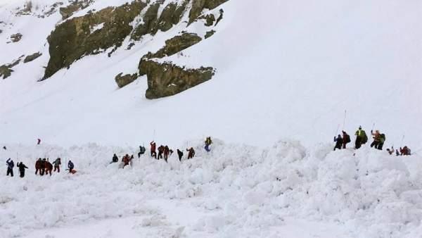 Avalancha en Suiza