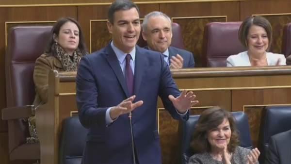 """Pedro Sánchez: """"Señor Casado, tiene la lengua muy larga"""""""