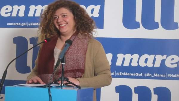 La portavoz de la coordinadora de En Marea, Ana Seijas