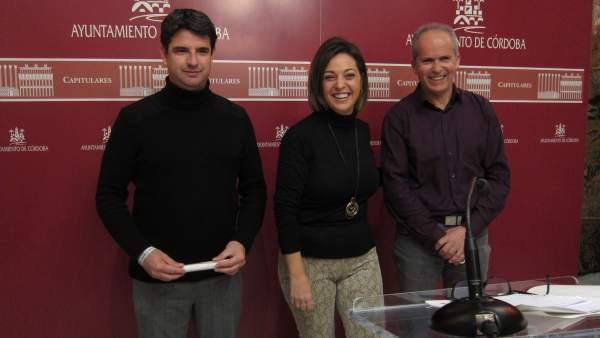 Isabel Ambrosio, Pedro García y Rafael Blázquez
