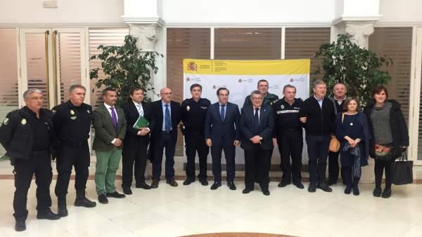Reunión de coordinación para la seguridad de los actos con motivo del Día de And