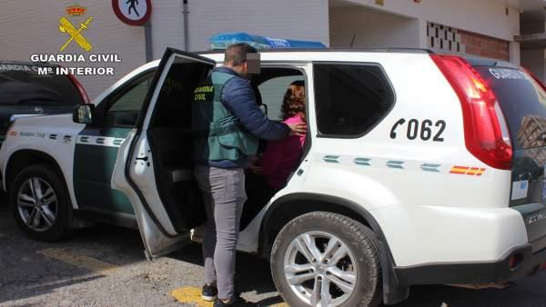 Guardia Civil detiene a una vecina de Mazarrón por simular un robo con fuerza en