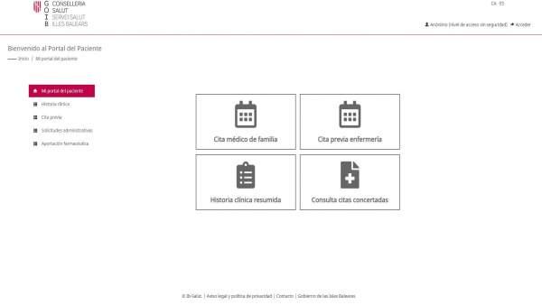 El nuevo portal del paciente del Servicio de Salud