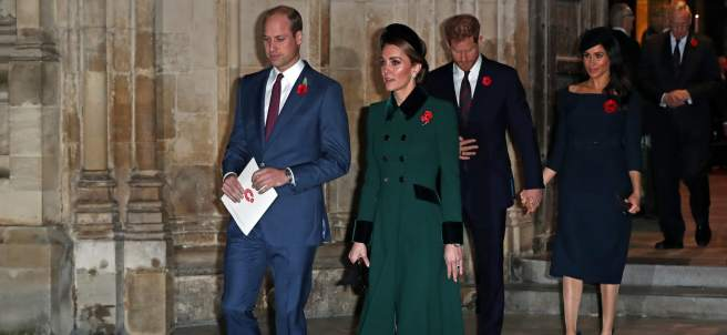 Los duques de Cambridge y Sussex