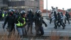 Huelga 21-F: los CDR cortan la Gran Vía en Barcelona