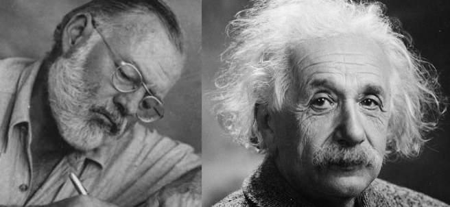 Hemingway y Einstein